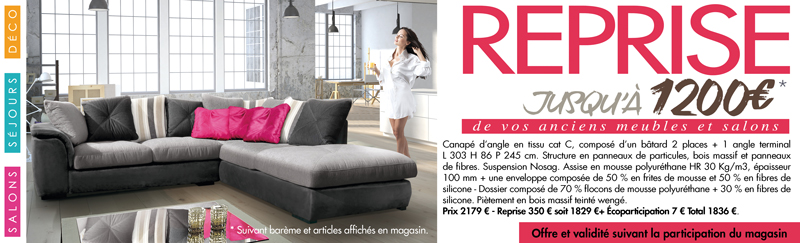 ameublement jusqu offerts gr ce la campagne reprise de captain oliver. Black Bedroom Furniture Sets. Home Design Ideas