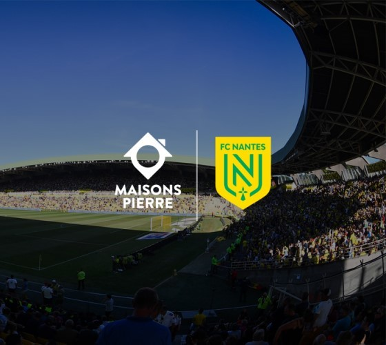 Maisons Pierre, sponsor officiel du club de foot FC Nantes