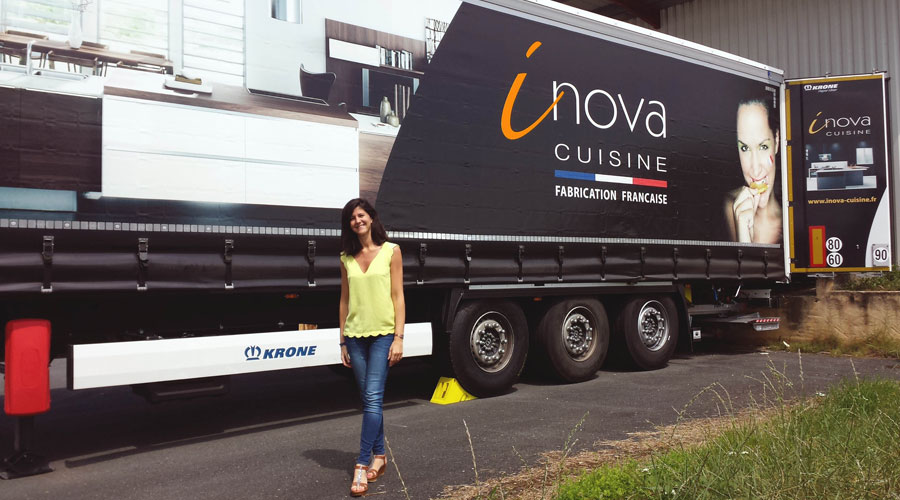 Inova cuisine se dote dune semi remorque son effigie for Inova cuisine