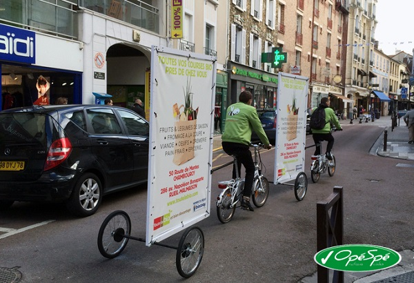 exemple de campagne de communication avec l'Affi'Bike
