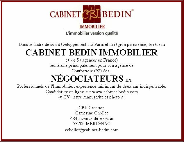 Cabinet bedin immobilier - Cabinet dentaire talence ...