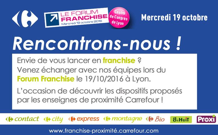Carrefour au forum franchise lyon