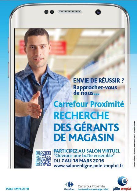 Carrefour proximit recrute des grants avec ple emploi for Salon virtuel de la franchise