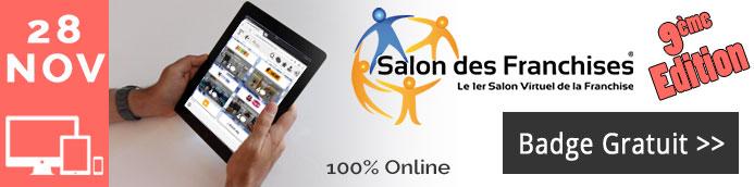 Salon virtuel des franchises 9me dition l 39 agenda de la for Salon virtuel de la franchise