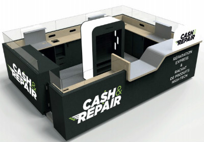 concept de corner cash and repair en centre commercial