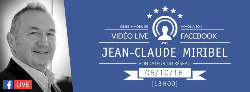Cimm immobilier facebook live