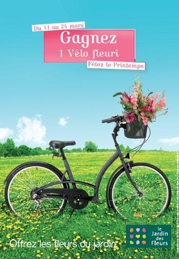 Un vlo fleuri gagner avec le jardin des fleurs for Fleuriste jardin des fleurs
