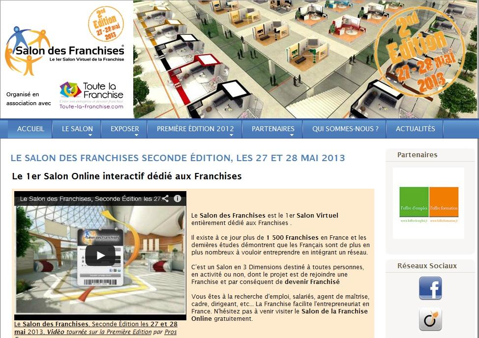 Le salon virtuel des franchises et toute la franchise - Salon des franchises ...