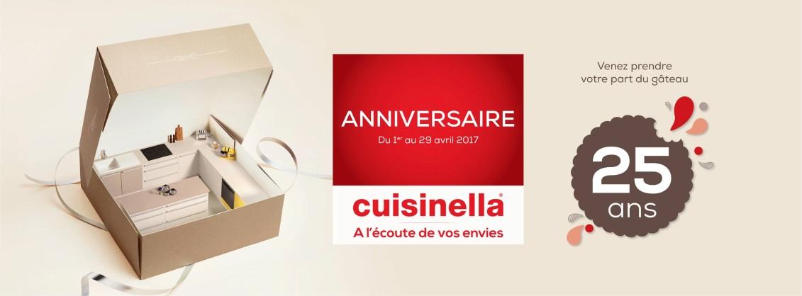 Cuisinella une cuisine gagner chaque jour pour le 25e for Cuisinella plan de campagne