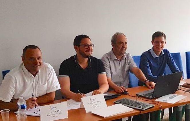 Pascal Audic, Vincent Meurisse, Laurent Lair et Thierry Gruau franchisés HELP Confort