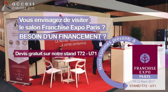 Access credits pro participe au salon franchise expo paris for Le salon de la franchise