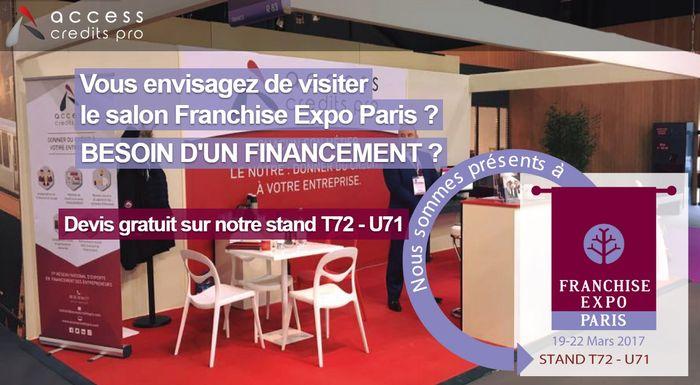 Access credits pro participe au salon franchise expo paris for Salon de la franchise paris 2017