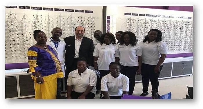 d4dfc79823 afflelou ouvre à ouagadougou avec Vincent Cornet et Nongassida Ilboudo