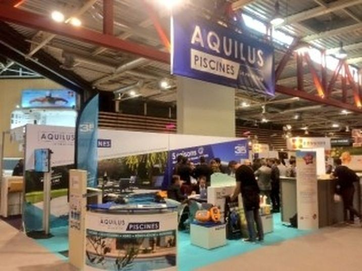 stand aquilus au salon piscine global europe