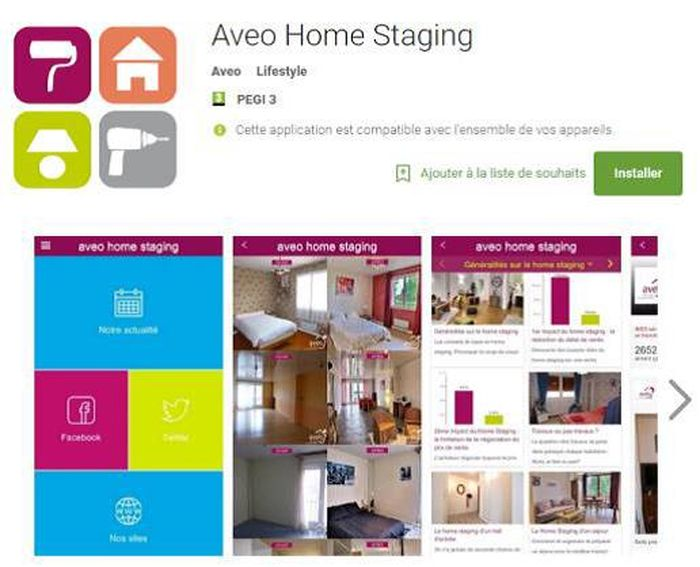 home staging avo innove et lance la premire application. Black Bedroom Furniture Sets. Home Design Ideas