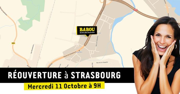 Babou strasbourg cadeaux gogo pour la rouverture du for Babou strasbourg adresse