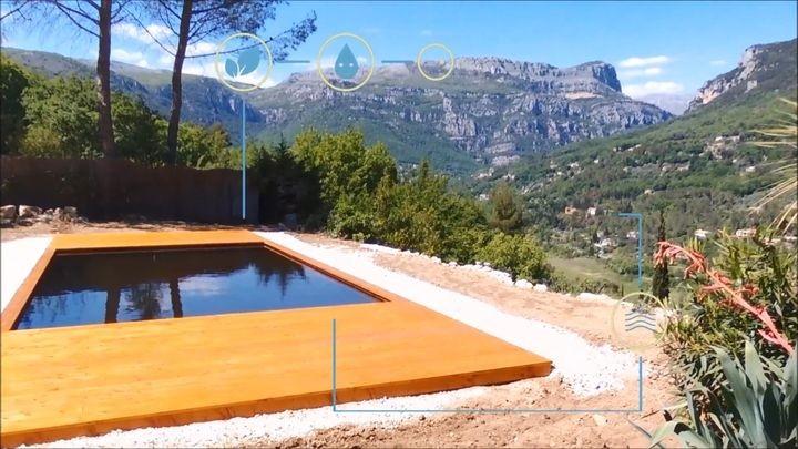 piscine avec système de gestion connectée bio pool safe de bio pool tech