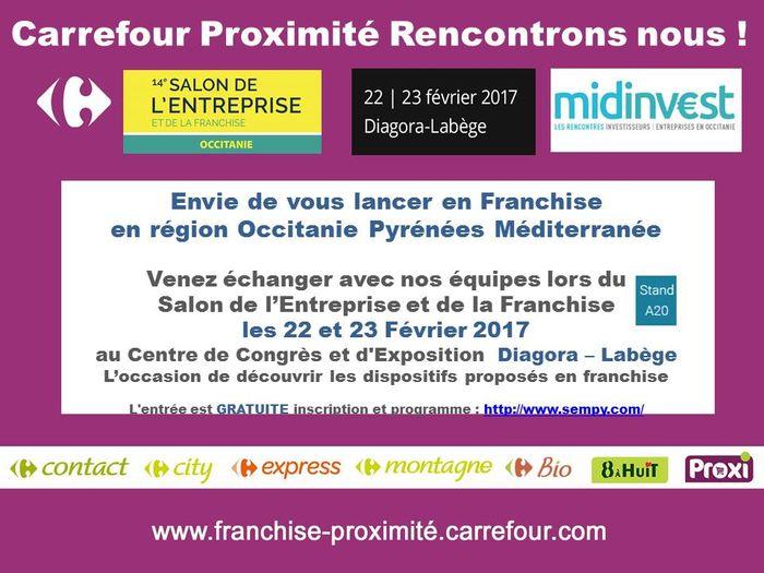 Carrefour proximit prsente ses solutions de franchise au for Salon de la franchise toulouse