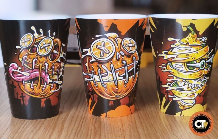 cup d'halloween chez chamas tacos pendant ch'alloween