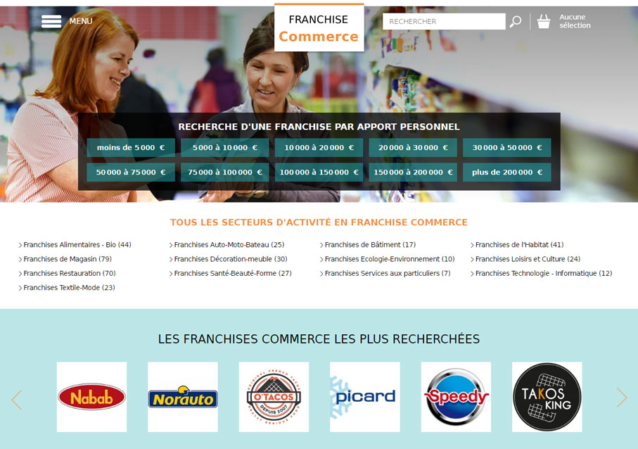 Site Franchise Commerce