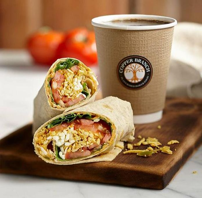 wrap végétal d'un restaurant vegan copper branch