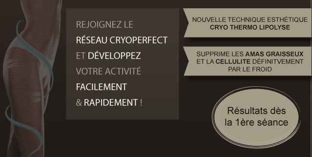 Franchise Cryoperfect centre d'amincissement