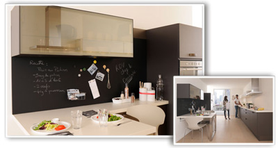 crez un intrieur qui vous ressemble grce au rseau cuisinella. Black Bedroom Furniture Sets. Home Design Ideas