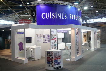 cuisines r f rences revient du salon de la cuisine de lyon. Black Bedroom Furniture Sets. Home Design Ideas