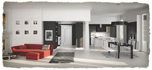 excellent avec deux murs duarmoire un ilot central qui comprend luvier des faades et une crdence. Black Bedroom Furniture Sets. Home Design Ideas