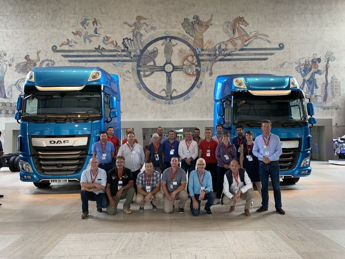 Franchise Daniel Moquet visite usine DAF Trucks