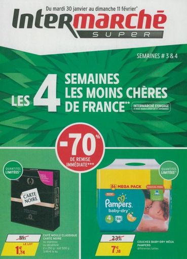 Apr s nutella intermarch met le paquet sur les couches pampers pas ch res - Reduction couches pampers a imprimer ...
