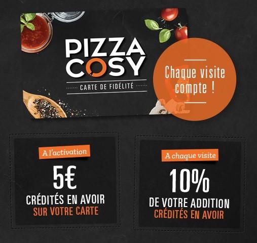 Les Clients Pizza Cosy Dj Conquis Par Cette Carte De Fidlit