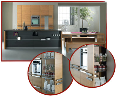 franchise cuisines ses solutions de rangements astucieux et modulables. Black Bedroom Furniture Sets. Home Design Ideas