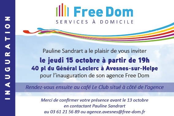 Inauguration agence Free Dom Avesnes-sur-Helpe