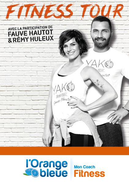 fauve hautot accompagne l 39 orange bleue dans son fitness tour. Black Bedroom Furniture Sets. Home Design Ideas