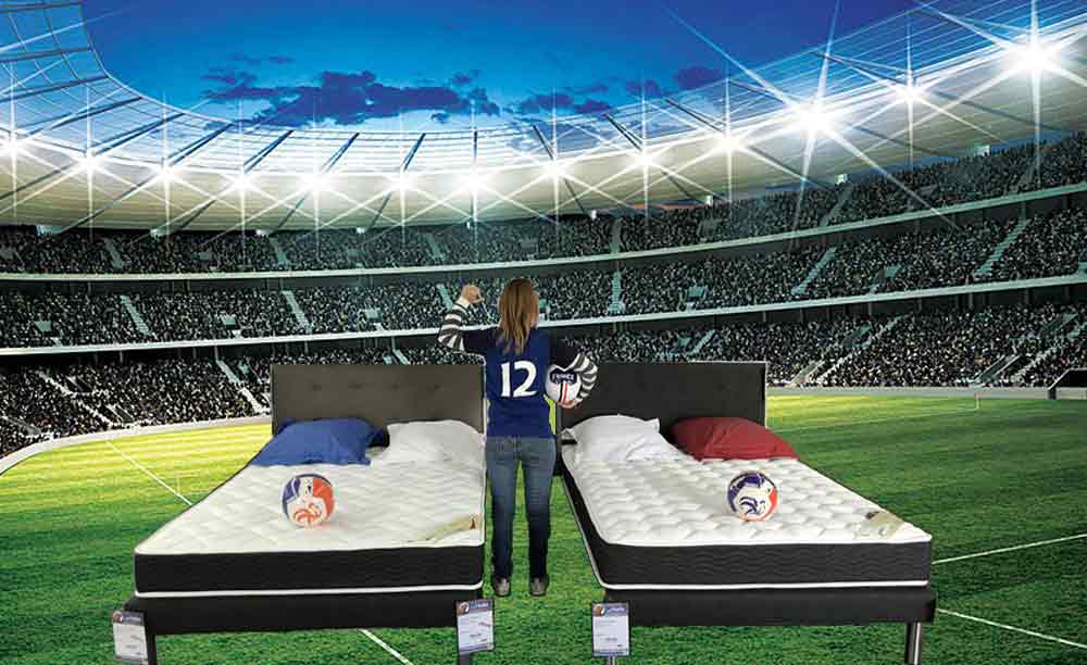 la halle au sommeil lance son op ration coupe du monde. Black Bedroom Furniture Sets. Home Design Ideas