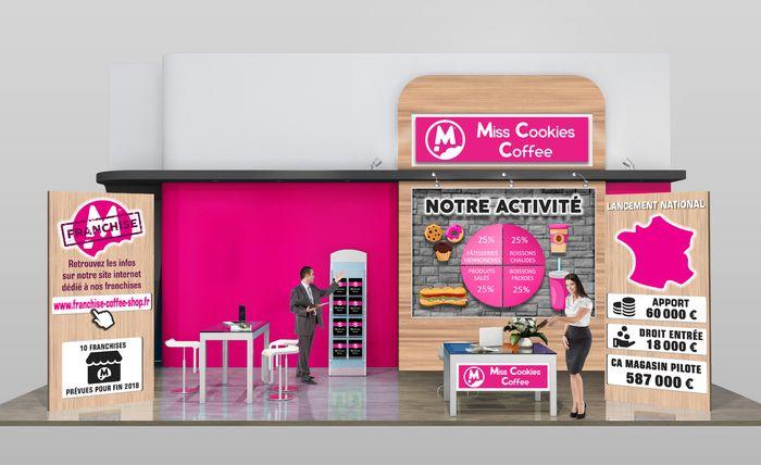 Miss cookies coffee prsente son concept de coffee shops au for Salon virtuel de la franchise