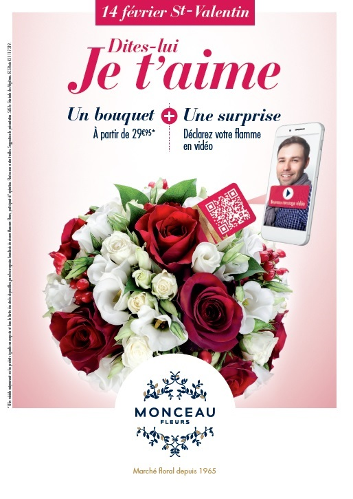 des bouquets connects pour la saint valentin chez monceau fleurs. Black Bedroom Furniture Sets. Home Design Ideas