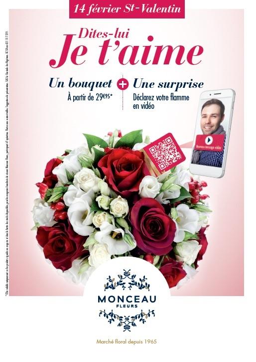 des bouquets connects pour la saint valentin chez monceau fleurs. Black Bedroom Furniture Sets. Home Design Ideas