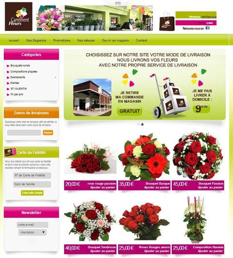 carrment fleurs soffre un nouveau site internet. Black Bedroom Furniture Sets. Home Design Ideas