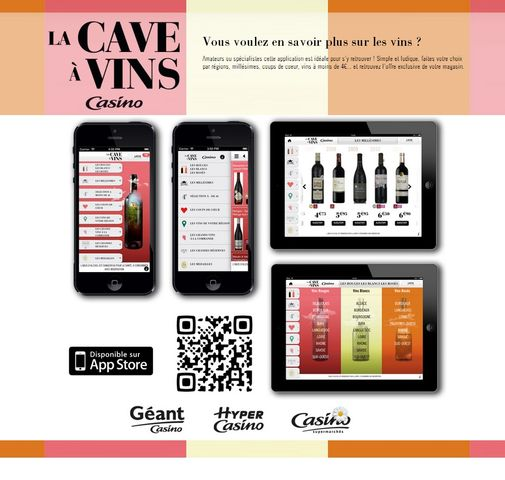 pour sa foire aux vins 2013 casino lance une application d di e. Black Bedroom Furniture Sets. Home Design Ideas