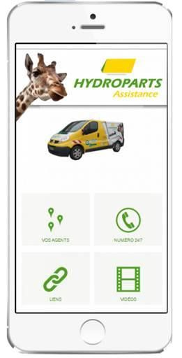 Nouvelle application HYDROPARTS Assistance