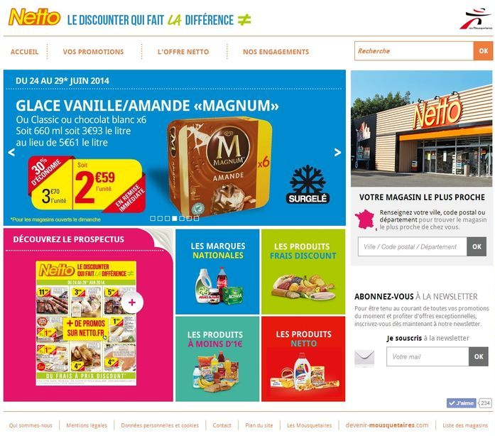 Franchise Netto site internet