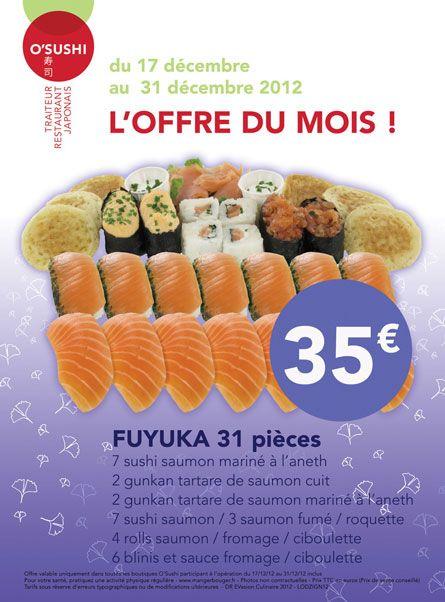 Pour Noël pensez Sushis avec le plateau spécial fête O'Sushi