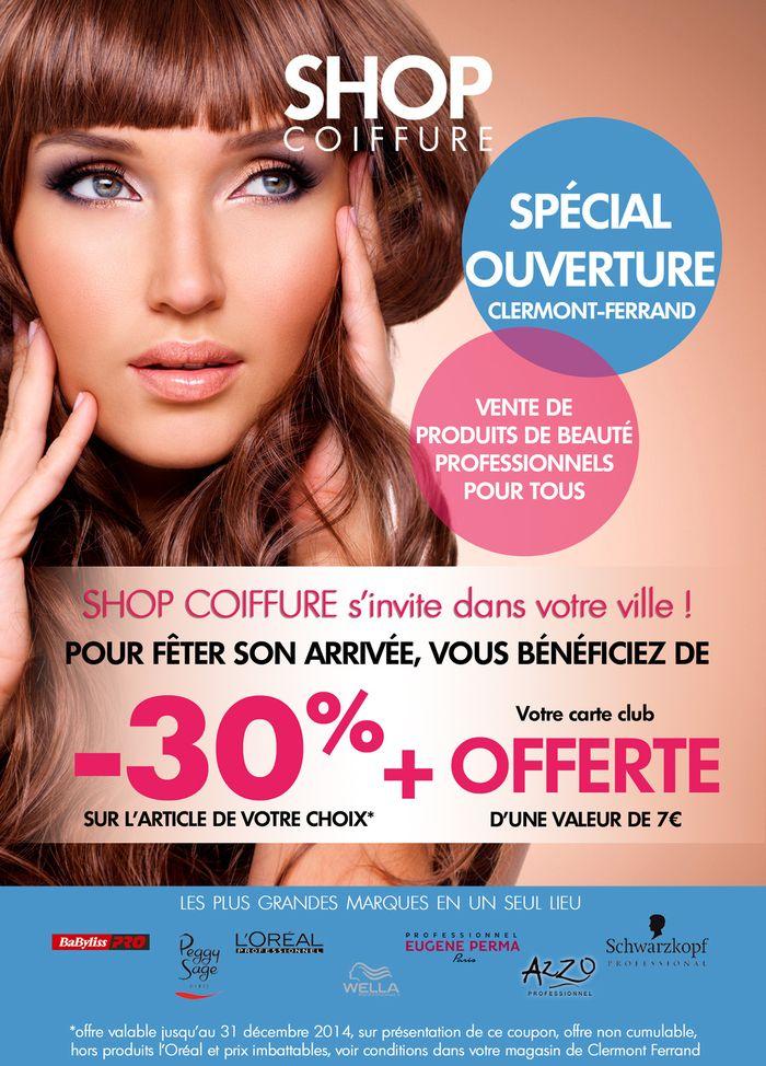 Ouverture du magasin shop coiffure de clermont ferrand for Salon dela franchise