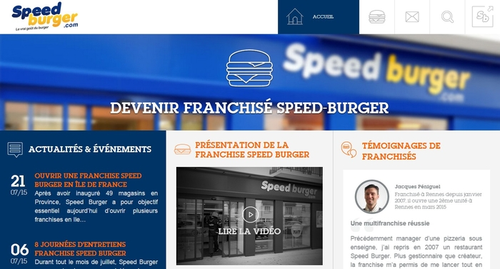 Franchise Speed Burger site farnchise