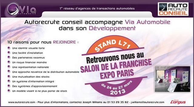 Retrouvez lenseigne via automobile lors du salon de la - Salon de la franchise paris ...