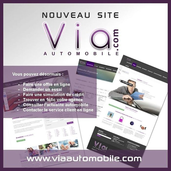 Franchise Via Automobile nouveau site internet