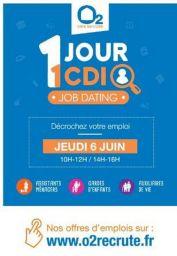 L'objectif du réseau O2 Care Services est de recruter 6.000 CDI partout en France. L'opération nationale de Job Dating, 1 jour 1 CDI,