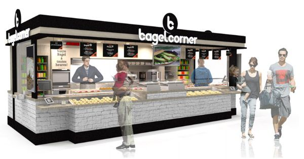 le dveloppement de bagel corner va bon train en gare de. Black Bedroom Furniture Sets. Home Design Ideas